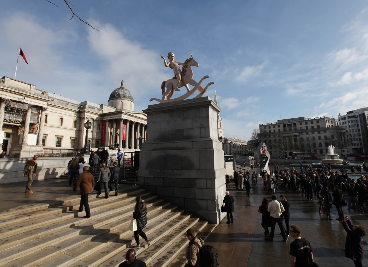 Elmgreen & Dragset, Powerless Structures, Fig. 101, 2012. Den fjerde plint, Trafalgar Square, London. Foto James O Jenkins(ll)